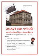 Pozvánka na 100. výročí založení školy ve Spořicích