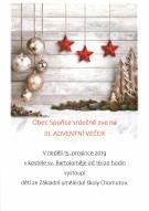 Pozvánka na III. adventní večer