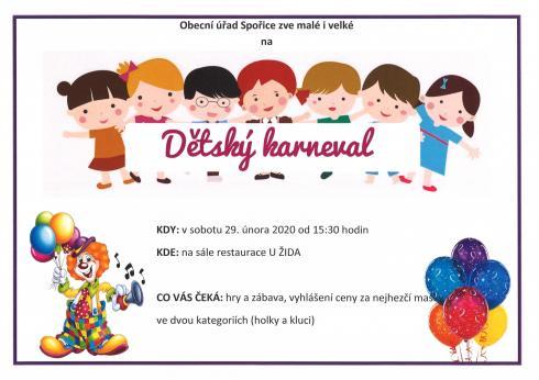 Pozvánka naDětský karneval