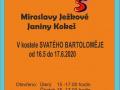 Pozvánka na výstavu obrazů - Ježková + Kokeš