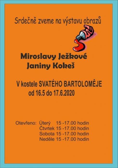 Pozvánka navýstavu obrazů - Ježková + Kokeš