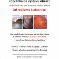 Pozvánka na výstavu obrazů