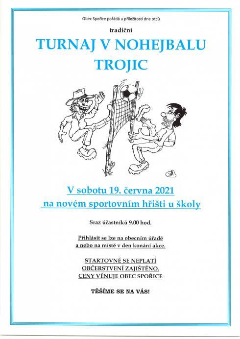 Turnaj vnohejbalu trojic - plakát