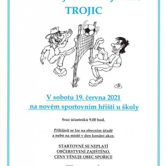 Turnaj v nohejbalu trojic - plakát