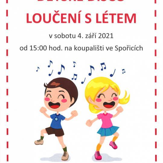 Dětské disco plakát